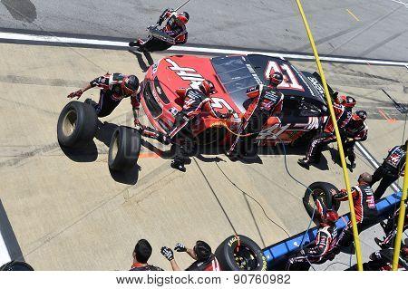 Talladega, AL - May 03, 2015:  Kurt Busch (41)  takes to the track for the GEICO 500 at Talladega Superspeedway in Talladega, AL.
