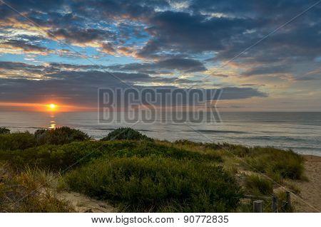 Sunrise At Golden Beach,