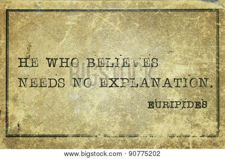 Believe Euripides