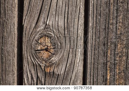Wooden Background With Knothole