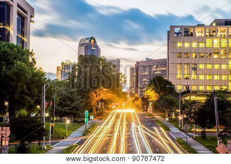 Downtown Of Charlotte  North Carolina Skyline