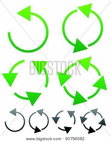 Arrow element for circulation loop restart concepts vector. poster