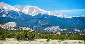 the colorado roky mountains with vista views poster