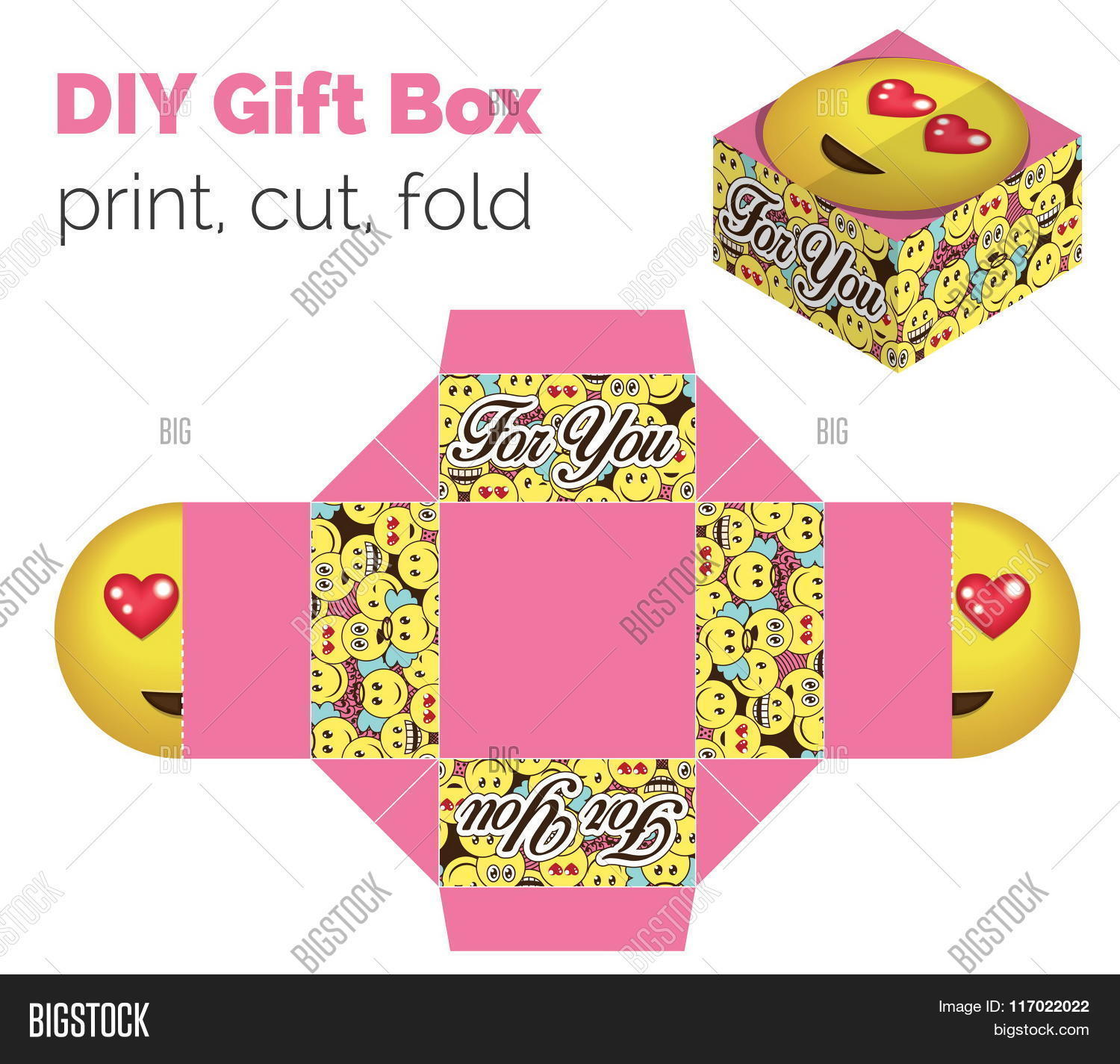 Vector y foto lovely do yourself diy love bigstock lovely do it yourself diy in love expression gift box for sweets candies small solutioingenieria Choice Image