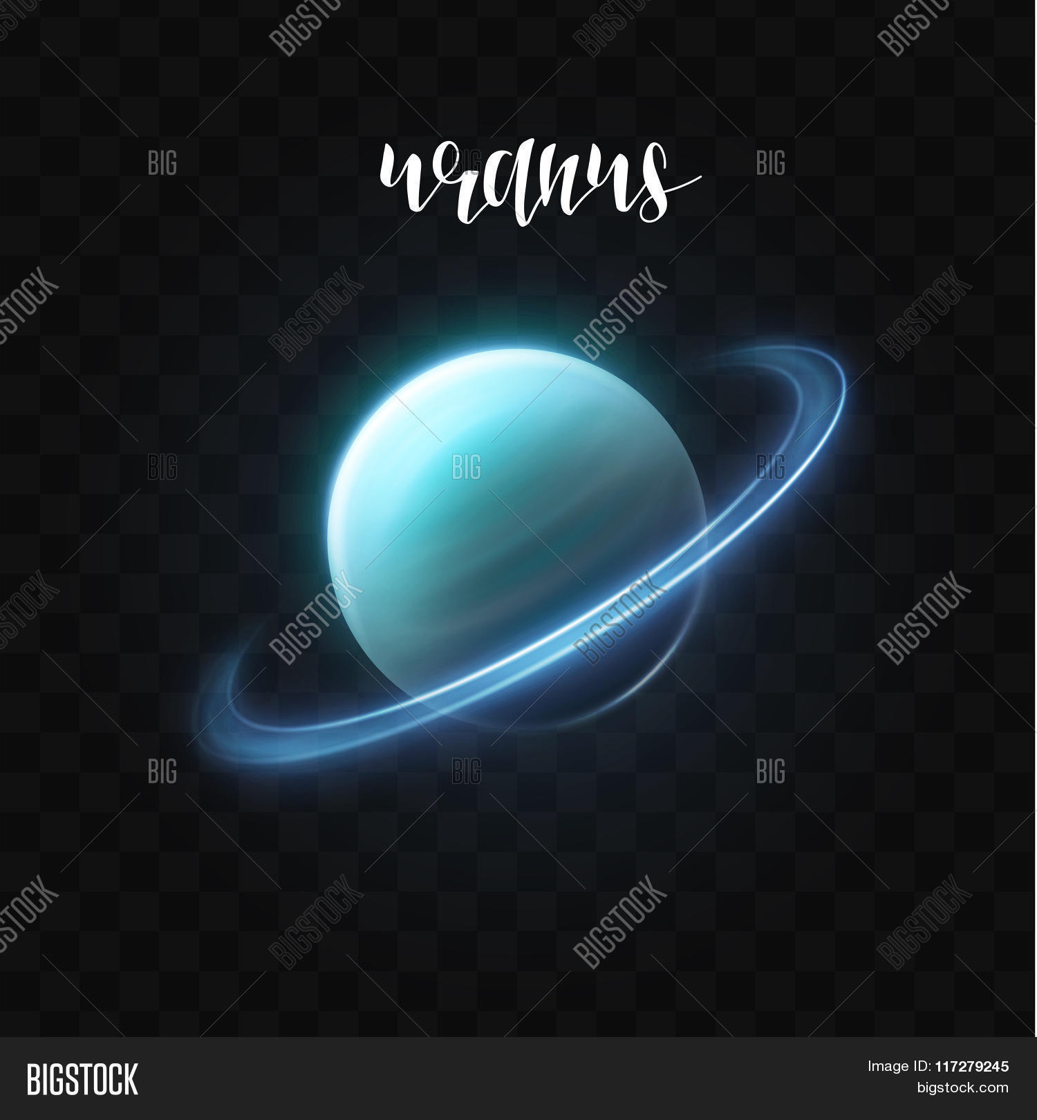 Realistic glowing uranus planet vector photo bigstock realistic glowing uranus planet isolated glow with transparency space biocorpaavc Images