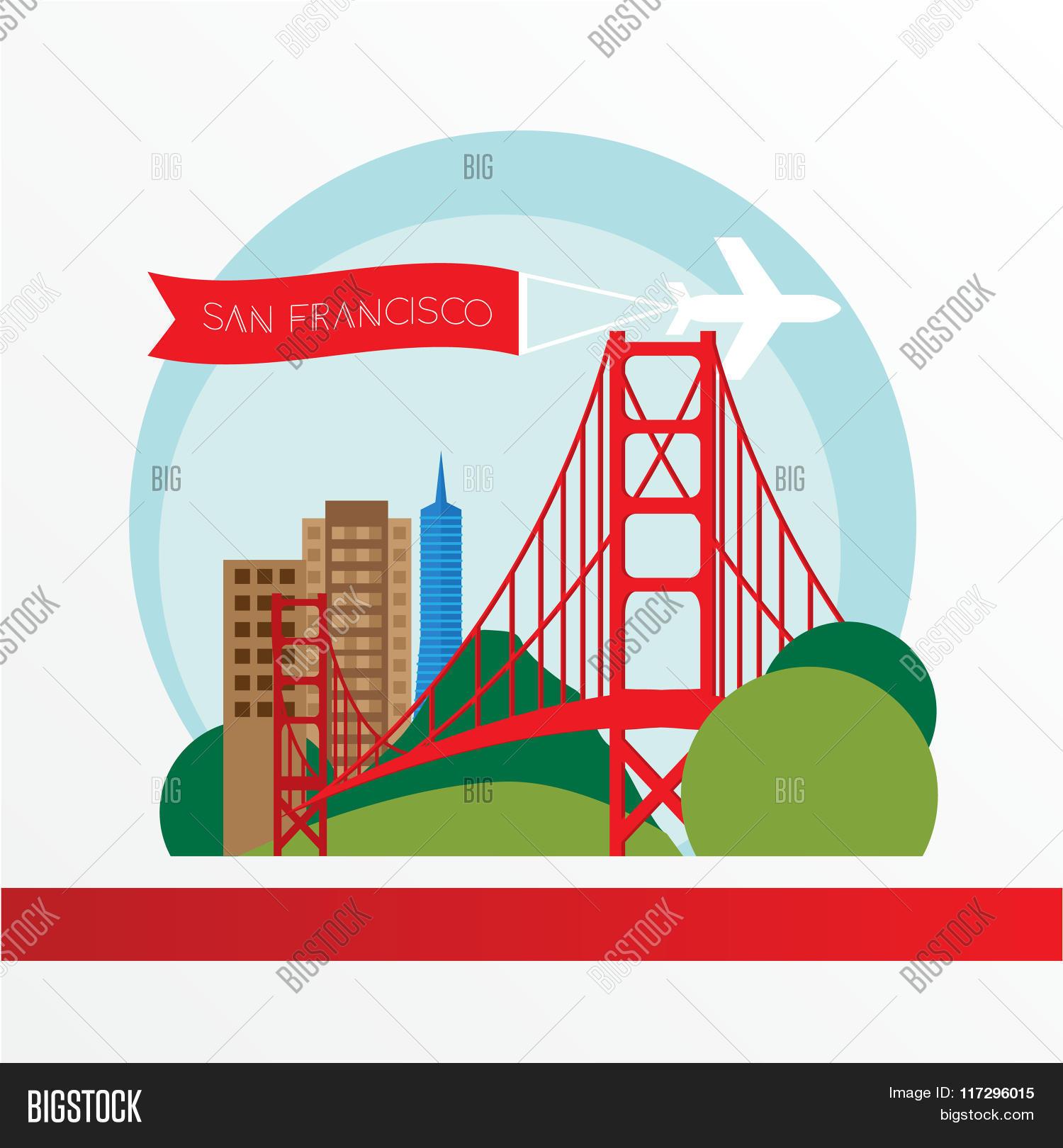 Golden Gate Bridge Vector Photo Free Trial Bigstock Diagram Of The Symbol Us San Francisco Vintage Stamp With