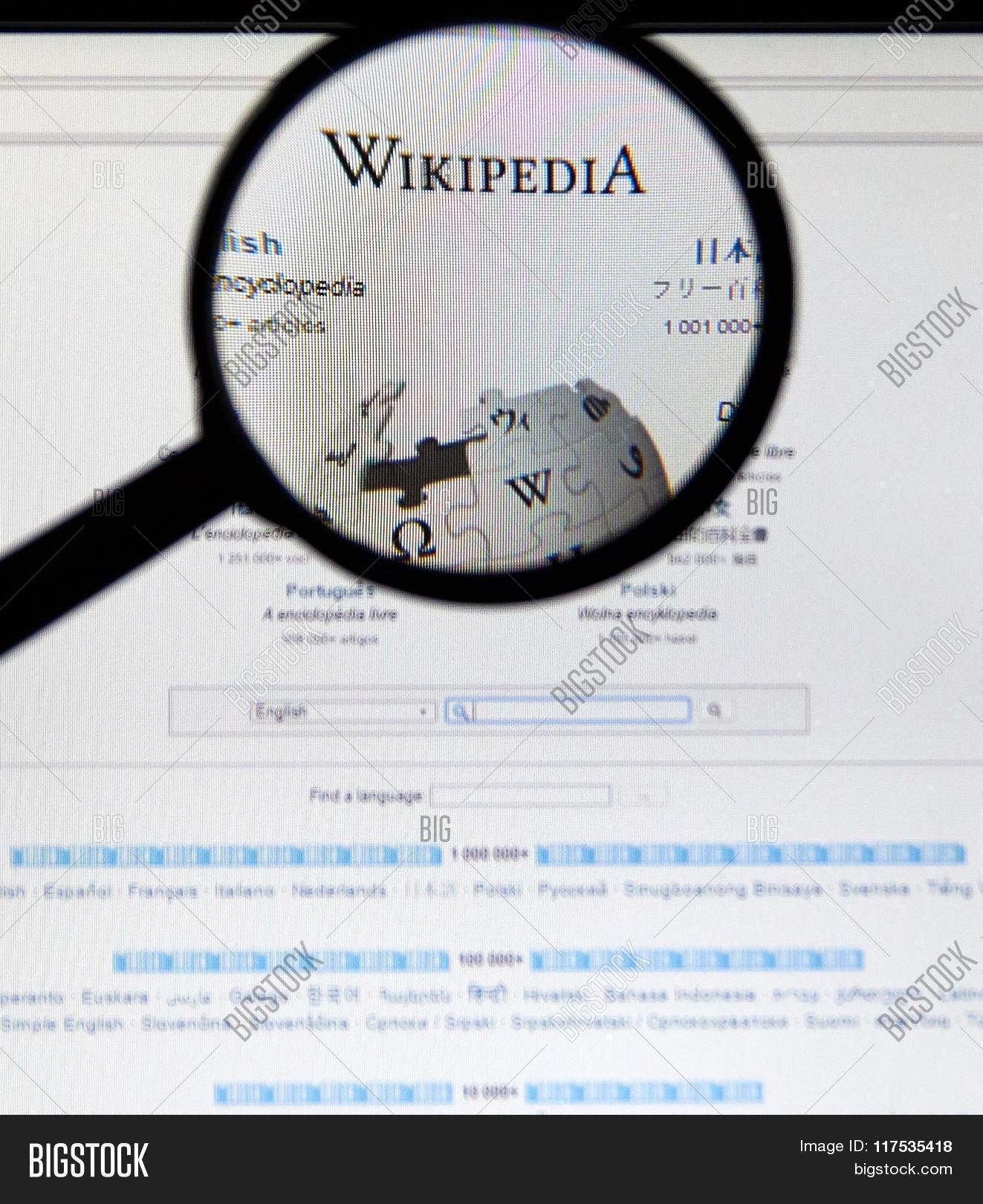 Wikipedia Home Page Image Photo Free Trial Bigstock