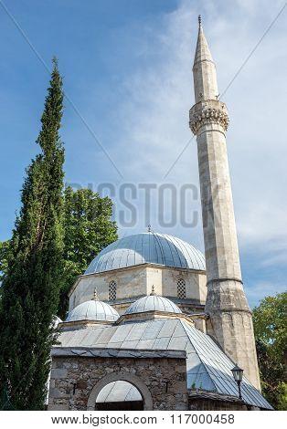 Karagoz Bey Mosque in Mostar city Bosnia and Herzegovina