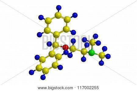 Diphenhydramine (dph) - Molecular Structure