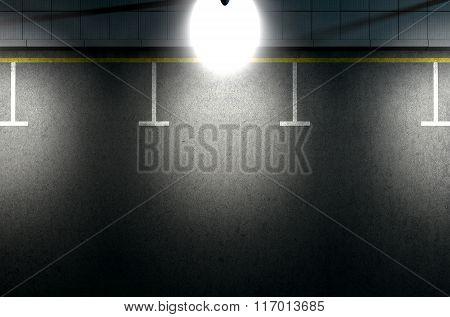 Parking Area Spotlit