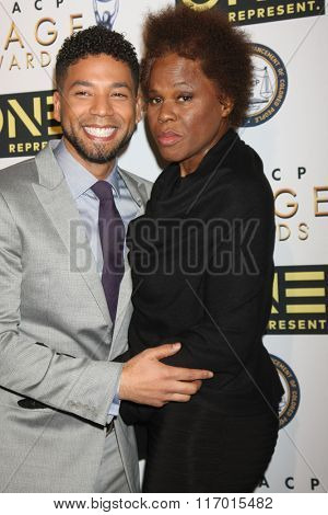 LOS ANGELES - FEB 4:  Jussie Smollett, Janet Smollett at the Non-Televised 47TH NAACP Image Awards at the Pasadena Conference Center on February 4, 2016 in Pasadena, CA