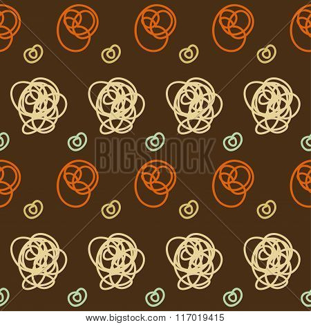 Hand Drawn Doodle Seamless Pattern Background