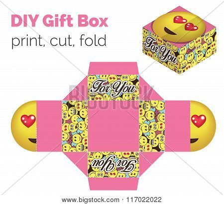Lovely Do It Yourself Diy In Love Expression Gift Box For Sweets, Candies, Small Presents. Printable