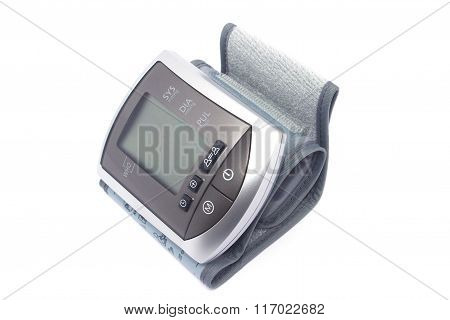 Tonometer For Measuring Blood Pressure On A White Background