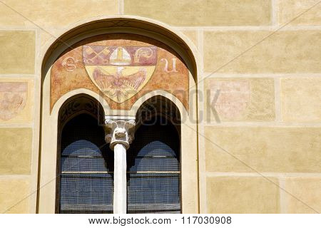 Tradate Italy Abstract  Window Monument Curch Mosaic