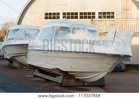 New Boats In Plastic Casing