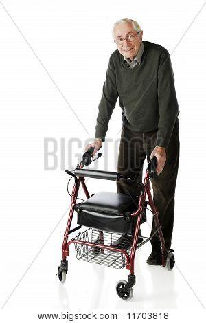 Senior-Walker-Spaziergang