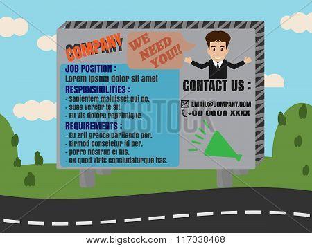 Job Finder Advertisement On Billboard