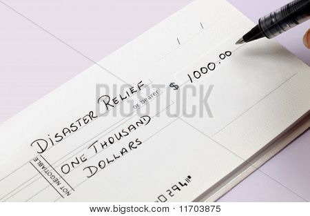 Disaster Relief Check
