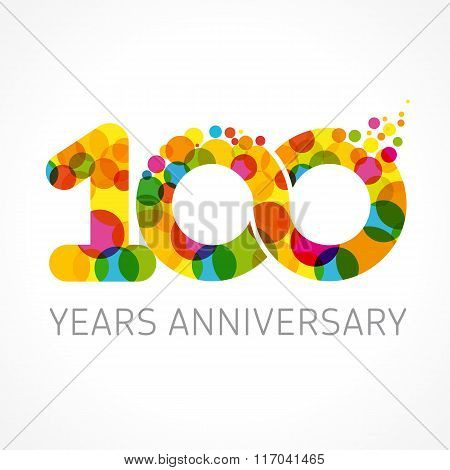 100 years anniversary infinity color logo