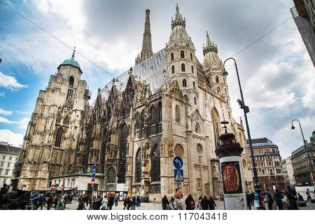 St. Stephen's Cathedral in the center of Vienna