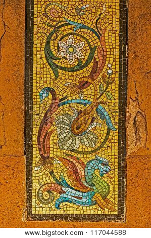 Colorful Mosaic On The Street Of Murano, Italy 3