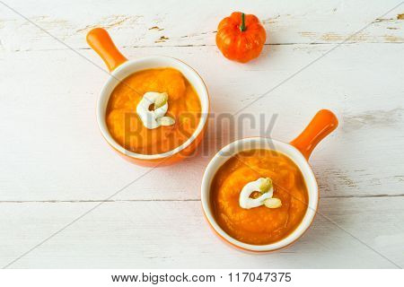 Pumpkin Soup In A Cocottes