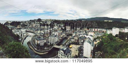 Luarca from air