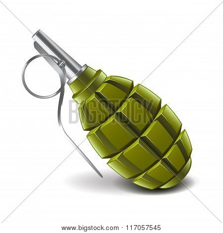 Grenade Isolated On White Vector