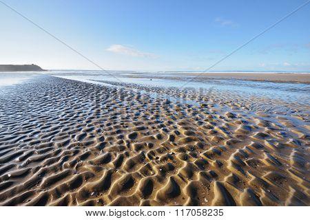 Ocean Coastline In Bretagne, France