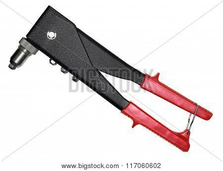 Red-black Rivet-gun On White
