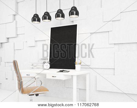 Blackboard On The Table