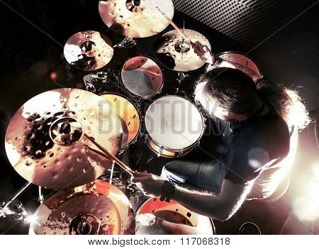 Live music and drummer.Music instrument