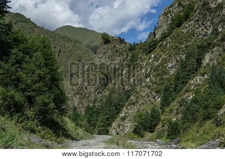 Caucasus Mountains, Canyon Of ?rgun River And Road To Shatili, Gorgia, Europe