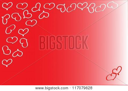 Energizing red valentine background