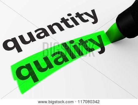Quality Vs Quantity Concept