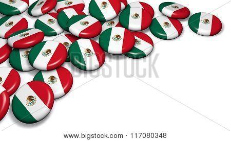 Mexico Flag Button Badges
