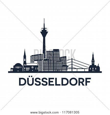 Duesseldorf Skyline Emblem
