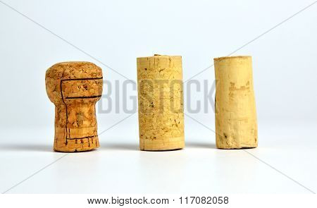 Three Cork Stoppers