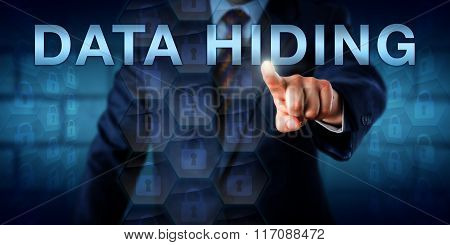 Adversary Pressing Data Hiding Onscreen