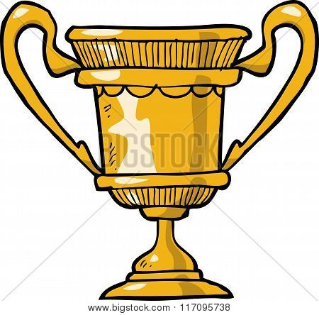 Cartoon Gold Cup