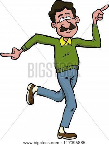 Cartoon Dad Dancing