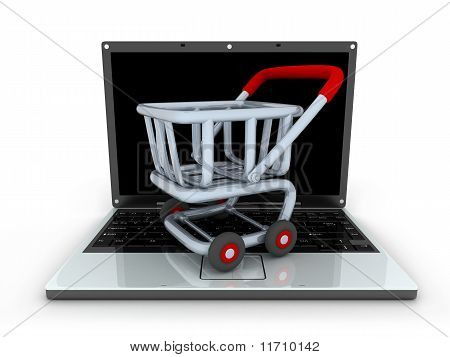 Laptop And Cart