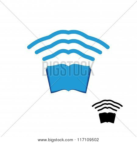 Wi Fi Book. Wireless Transmission Of Knowledge. Remote Access Information. Wifi Internet Book.  Wi-f