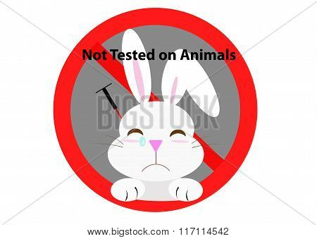 No Animal test sign