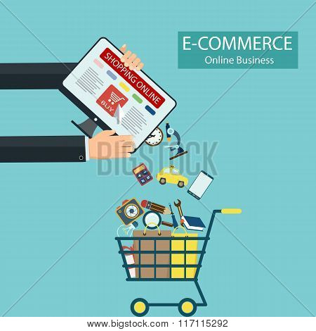E-commerce. Shopping Online.