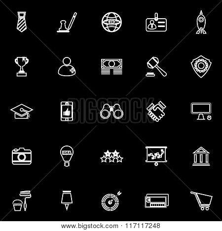 Sme Line Icons On Black Background