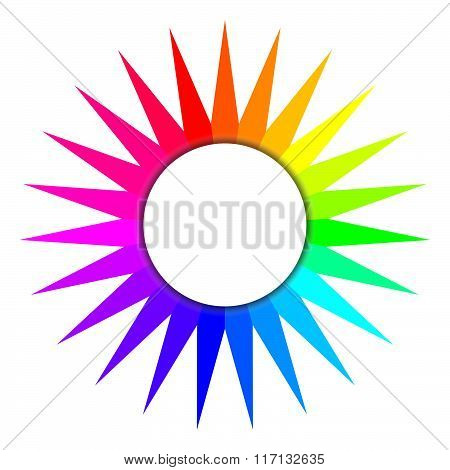 Colored sun logo