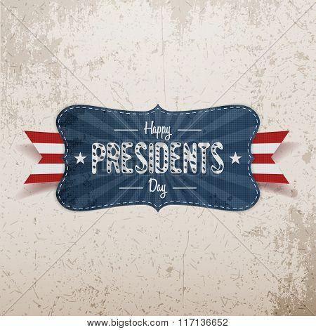 Happy Presidents Day Banner and Ribbon