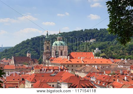 Panorama Of Mala Strana (lesser Town) And St. Nicholas Church, Prague
